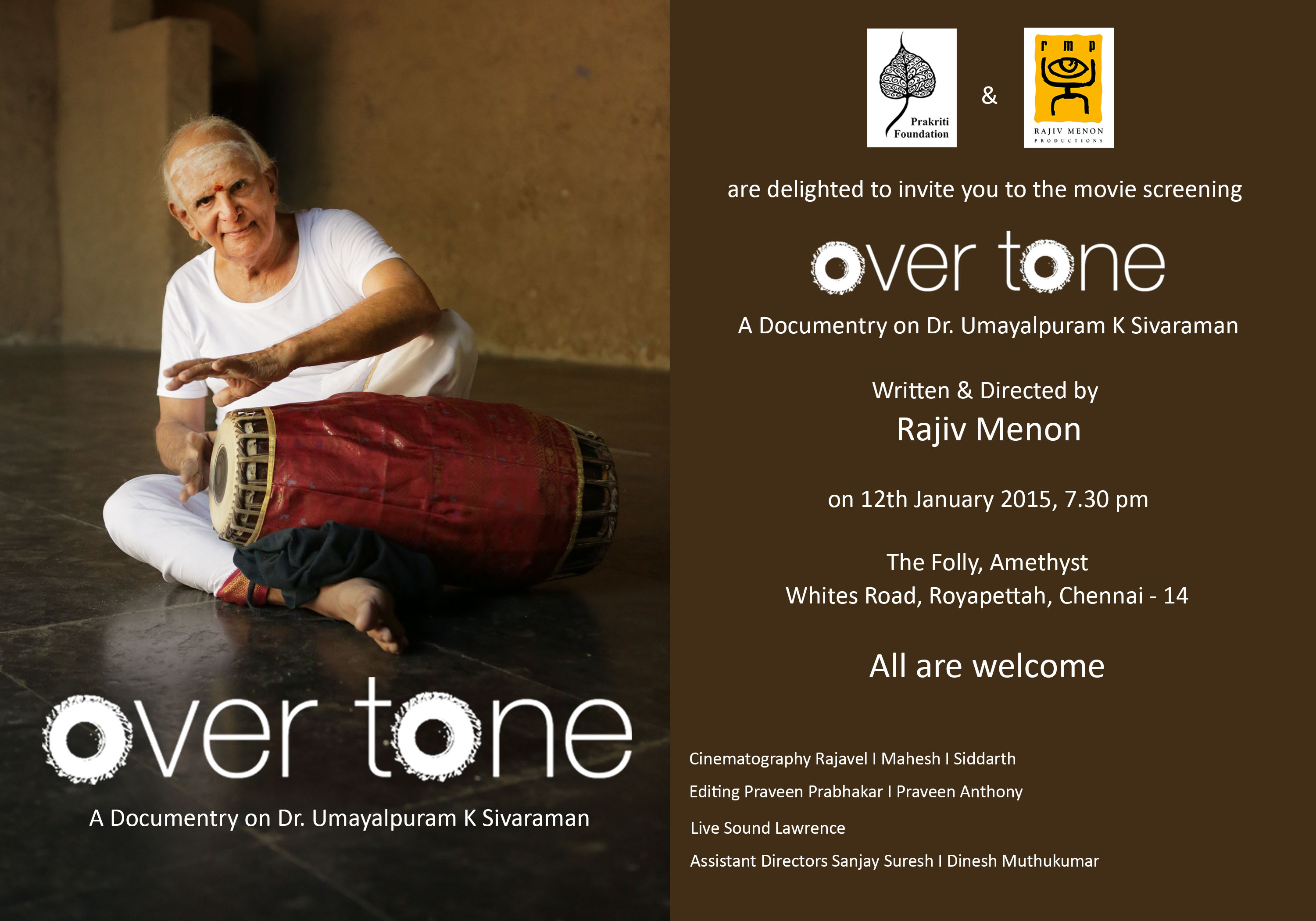 Over Tone - Film on Umayalpuram K Sivaraman
